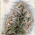 Map Of Mauritius by Dyonnet