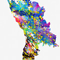 Map Of Moldova-colorful by Erzebet S