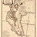 Map Of Monaco 1764 by Andrew Fare