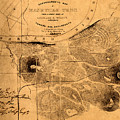 Map Of Nashville 1860 by Andrew Fare