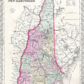 Map Of New Hampshire by Joseph Hutchins Colton
