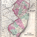 Map Of New Jersey by Joseph Hutchins Colton