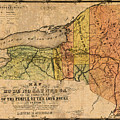 Map Of New York State Showing Original Indian Tribe Iroquois Landmarks And Territories Circa 1720 by Design Turnpike