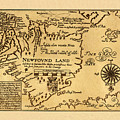 Map Of Newfoundland 1625 by Andrew Fare