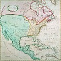 Map Of North America by English School