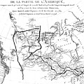 Map Of North America, Plotting The Expeditions Of Sir Alexander Mackenzie In 1789 And 1798 To The Ar by French School