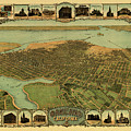 Map Of Oakland 1900 by Andrew Fare