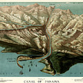 Map Of Panama Canal 1881 by Andrew Fare