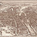 Map Of Paris 1618 by Mountain Dreams