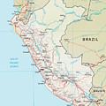 Map Of Peru 2 by Roy Pedersen