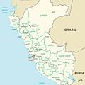 Map Of Peru by Roy Pedersen