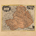 Map Of Rheims 1636 by Andrew Fare