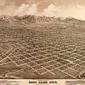 Map Of Salt Lake City 1875 by Andrew Fare