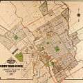 Map Of San Jose 1886 by Andrew Fare