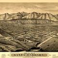 Map Of Santa Barbara 1877 by Andrew Fare