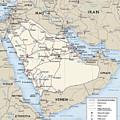 Map Of Saudi Arabia 2 by Roy Pedersen