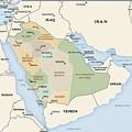 Map Of Saudi Arabia by Roy Pedersen