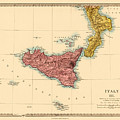 Map Of Sicily 1875 by Andrew Fare