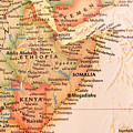 Map Of Somalia And Ethiopia by Jill Lang