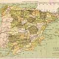 Map Of Spain by Roy Pedersen