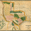 Map Of Texas 1834 by Andrew Fare