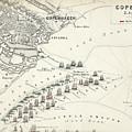 Map Of The Battle Of Copenhagen by Alexander Keith Johnston