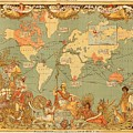 Map Of The Extent Of The British Empire 1886  by Mountain Dreams