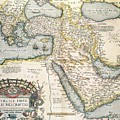 Map Of The Middle East From The Sixteenth Century by Abraham Ortelius