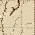 Map Of The Mississippi Riverr 1775 by Andrew Fare