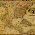 Map Of The United States 1849 by Andrew Fare