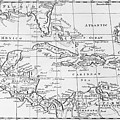 Map Of The West Indies Florida And South America by English School