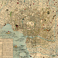 Map Of Tokyo 1854 by Andrew Fare