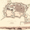 Map Of Toulon 1840 by Andrew Fare