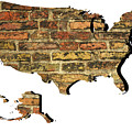 Map Of Usa And Wall. by Richard Wareham