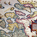 Map of Zeeland by Abraham Ortelius