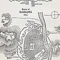 Map Showing The Site Of The Siege Of by Vintage Design Pics