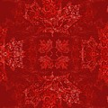 Maple Leaf Filigree Tiled Pattern by Katherine Nutt