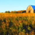 Maple Ridge Fall Barn by Daniel Thompson