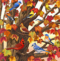 Maple Tree Marvel - Bird Painting by Crista Forest
