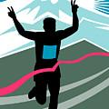Marathon Race Victory by Aloysius Patrimonio