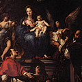 Maratti Carlo Madonna And Child Enthroned With Angels And Saints by PixBreak Art