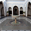 Marble-paved Courtyard In Bahia Palace by Aivar Mikko