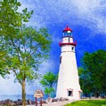 Marblehead Lighthouse  by Diane Lindon Coy