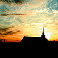 March Church Sunset  by Tommy Anderson