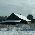March Snows On The Barn by Laurie Kidd