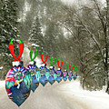 Marching Ornaments Chili Peppers by Lou Novick