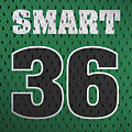 Marcus Smart Boston Celtics Number 36 Retro Vintage Jersey Closeup Graphic Design by Design Turnpike