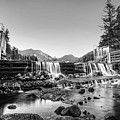 Marcy Dam Waterfall In The Adirondacks North Elba Black And White by Toby McGuire