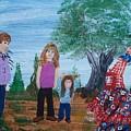 Mardi Gras Beggar And The Children by Seaux-N-Seau Soileau