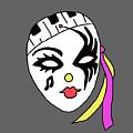 Mardi Gras Mask by Priscilla Wolfe